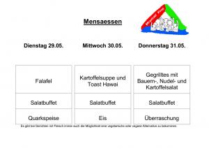 Mensa 29.05.